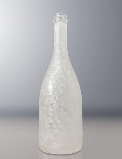 Verniciatura-bottiglia-verniciata-satinata-effetto-ghiaccio